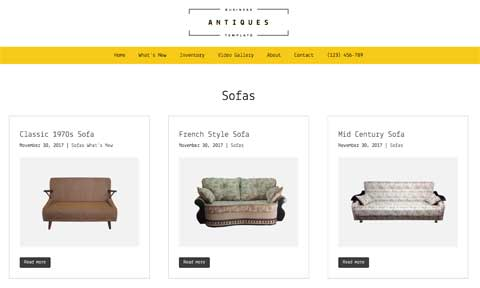 Antiques WordPress Theme - Attractive service pages