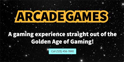 Arcade Games WordPress Theme - Prominent call-to-actions