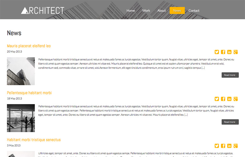 Architect WordPress Theme - Powerful blog features
