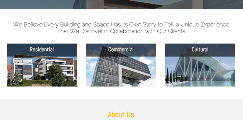Architect WordPress Theme - Featured services