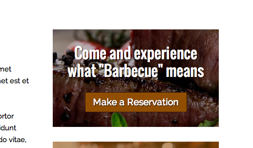 Bbq Restaurant WordPress Theme - Call-to-actions