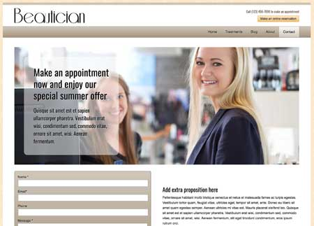 Schoonheidsspecialist WordPress Thema - Helpvolle contact pagina