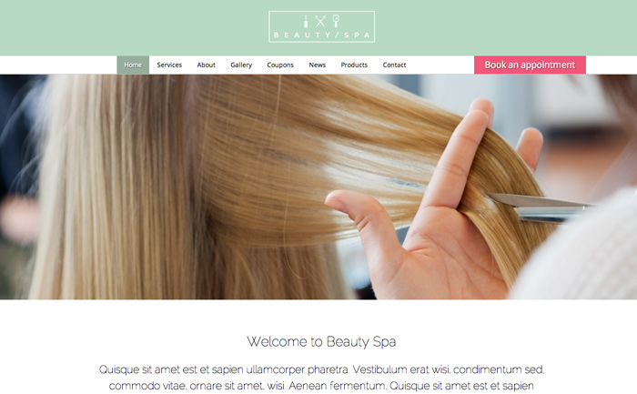 Beauty Spa WordPress Theme - Bold, professional design