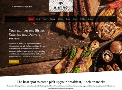 Bistro WordPress Theme - Bold, professional design