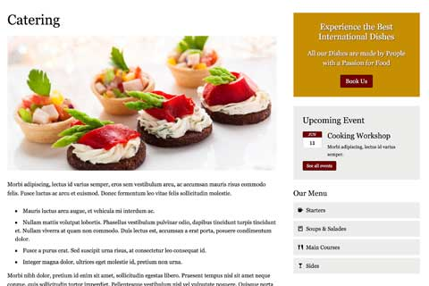 Bistro WordPress Theme - Solid detail pages