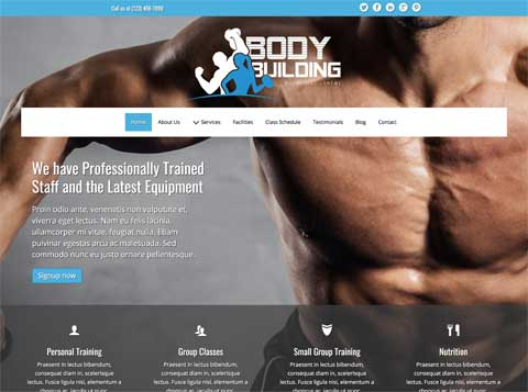 Bodybuilding WordPress Theme - Clean, professional design