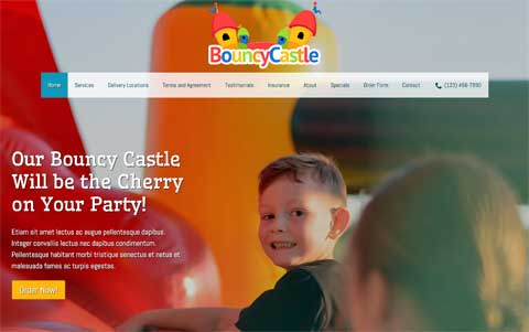 Bouncy Castle WordPress Theme - Professional design