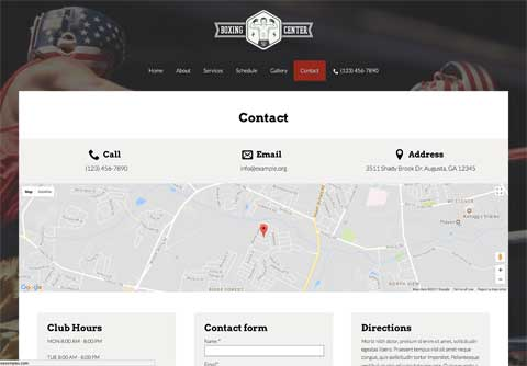 Boxing WordPress Theme - Get into contact