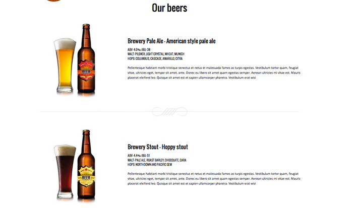 Brewery WordPress Theme - Display your beer selection