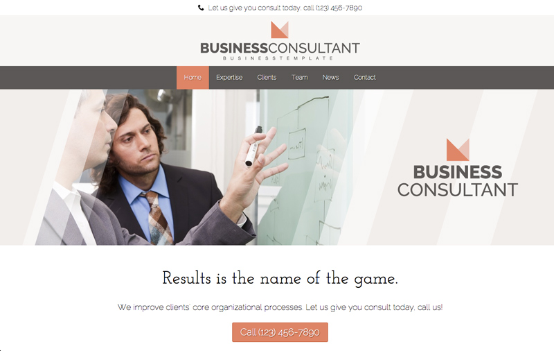 Business Consultant WordPress Theme - Bright, modern design