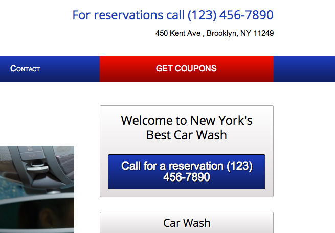Car Wash WordPress Theme - Convincing call-to-actions