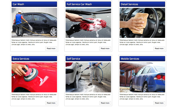 Car Wash WordPress Theme - One-glance overview