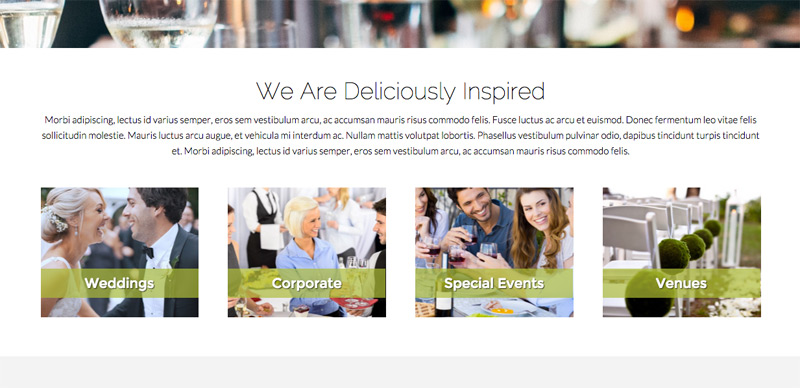Catering WordPress Theme - Services overview