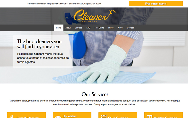Cleaner Business WordPress Theme - Mouth-watering design
