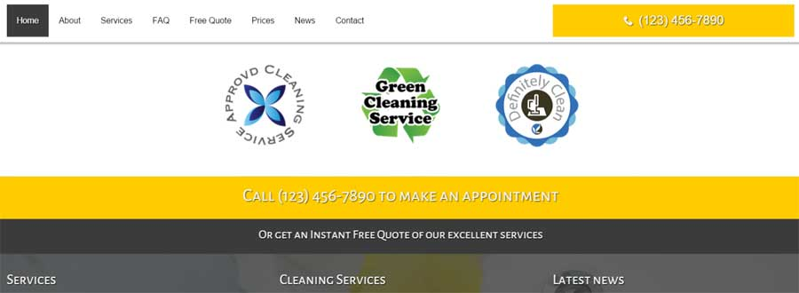 Cleaning Services WordPress Theme - Build trust