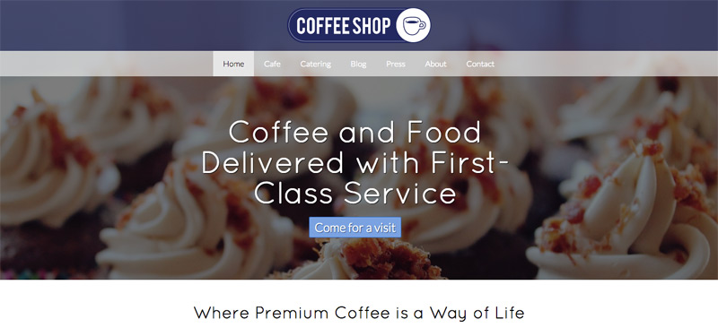 Cafe WordPress Thema - Prachtige dia voostelling