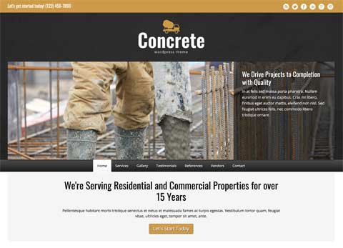 Concrete WordPress Theme - Clean, modern design