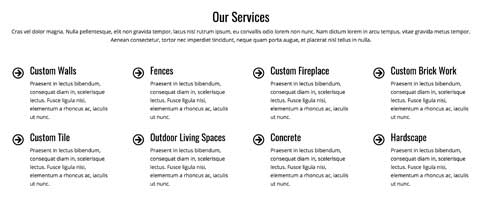 Concrete WordPress Theme - Service listing
