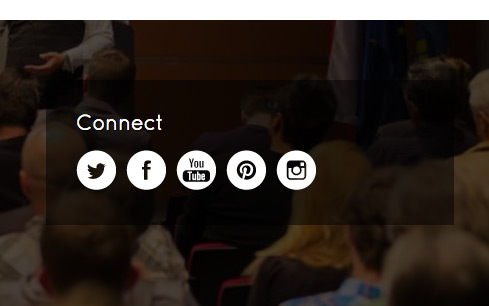 Conference WordPress Theme - Integrated social media
