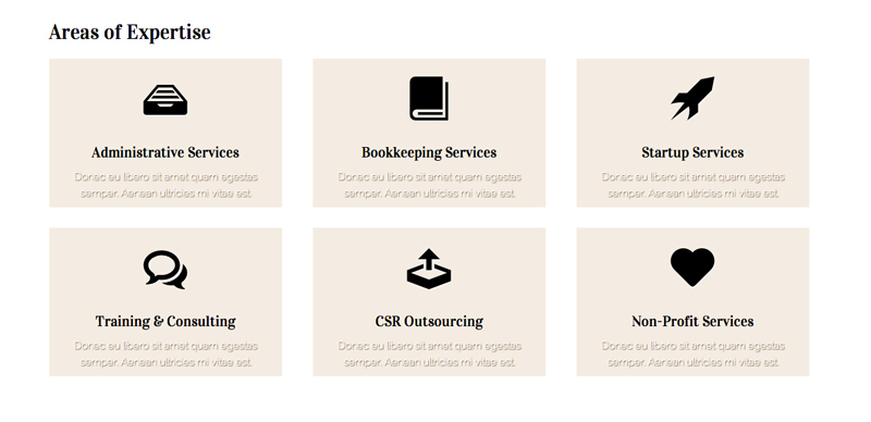 CPA WordPress Theme - Service overview