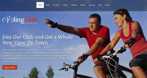 Cycling Club WordPress Theme - Mouth-watering design