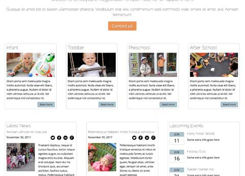 Day Care WordPress Theme - Convenient services overview