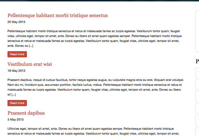 Advocaat WordPress Thema - Blog functionaliteit