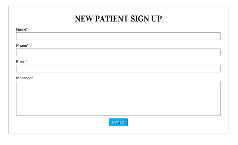 Dental Clinic WordPress Theme - Patient registration