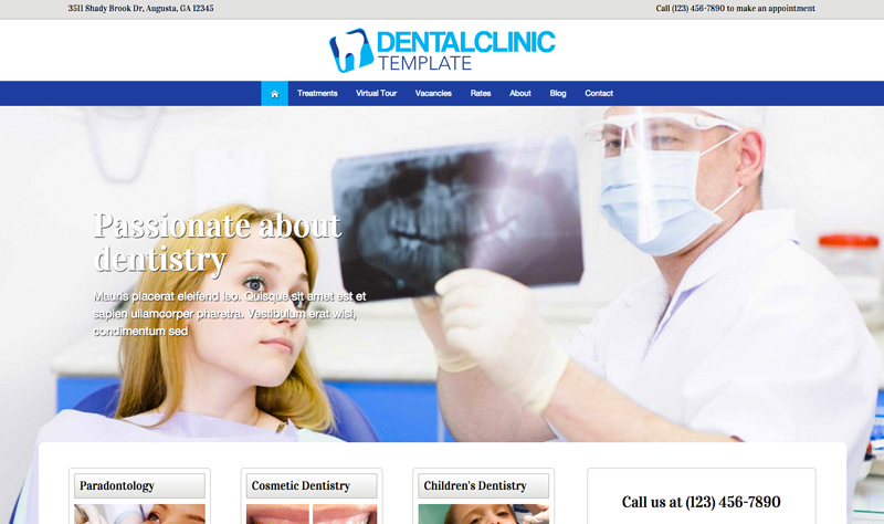 Dental Clinic WordPress Theme - Classic image slider
