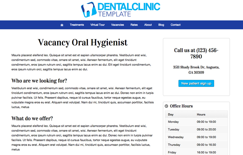 Dental Clinic WordPress Theme - Grow your passionate team