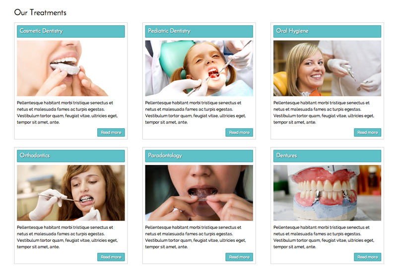 Dentistry WordPress Theme - Services feature