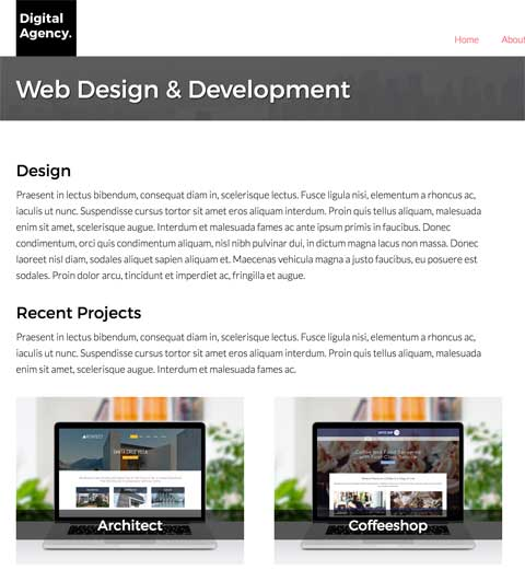 Digital Agency WordPress Theme - Appealing service pages