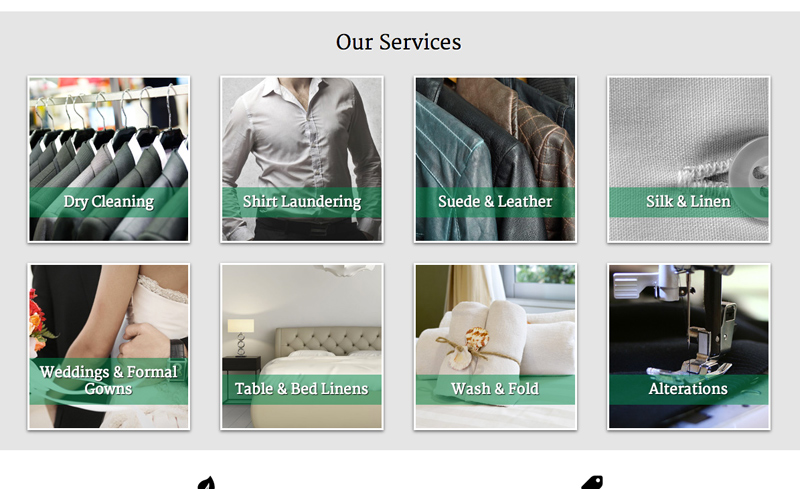 Dry Cleaning WordPress Theme - Service pages