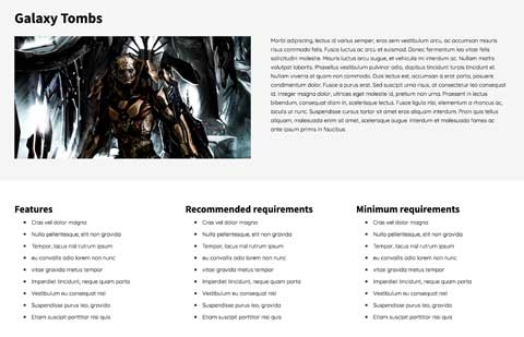Game Developer WordPress Theme - Appealing service pages