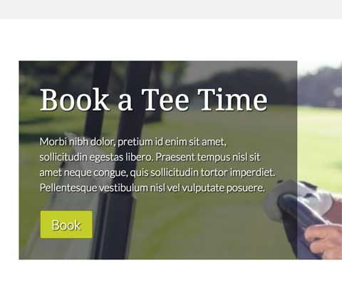 Golf WordPress Thema - Overtuigende call-to-actions