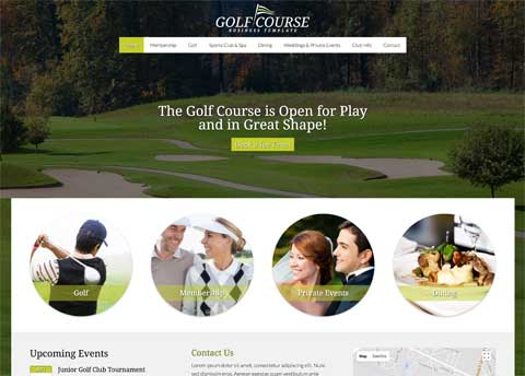 Golf Course WordPress Theme - Professional design