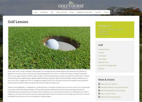 Golf Course WordPress Theme - Beautiful service details