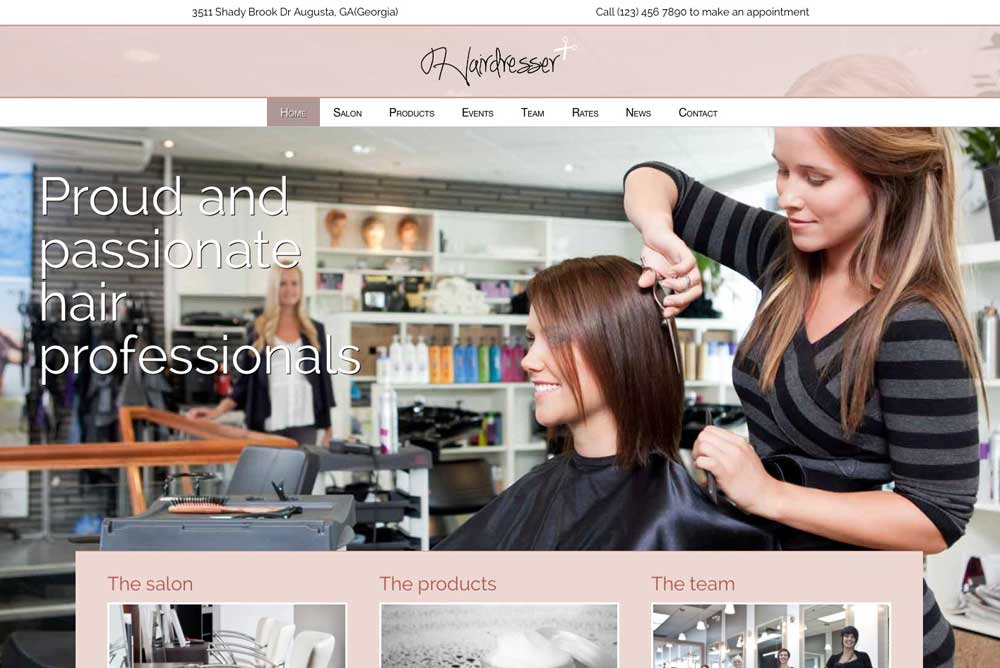 Hairdresser WordPress Theme - A truly unique website