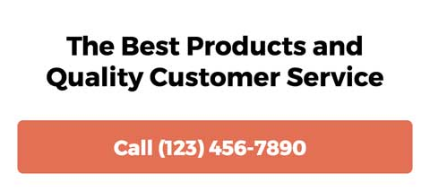 Hardware Store WordPress Theme - Strong calls-to-actions