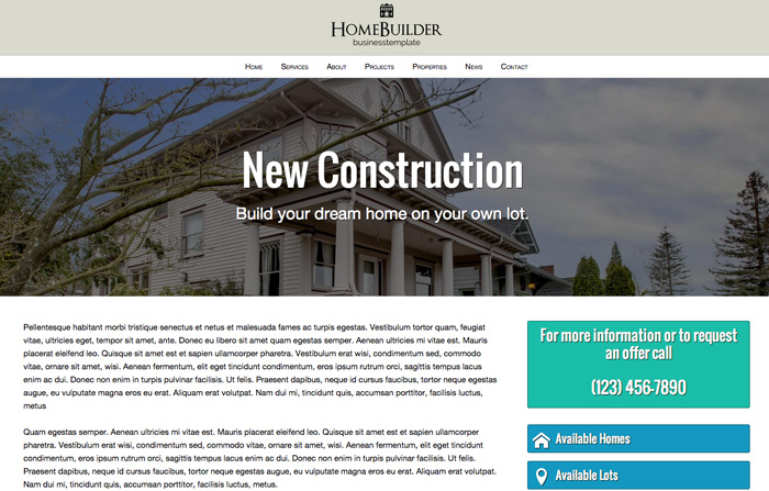Home Builder WordPress Theme - Rock solid detail pages