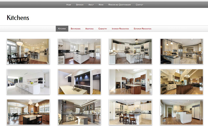 Home Improvement WordPress Theme - Dazzling image gallery