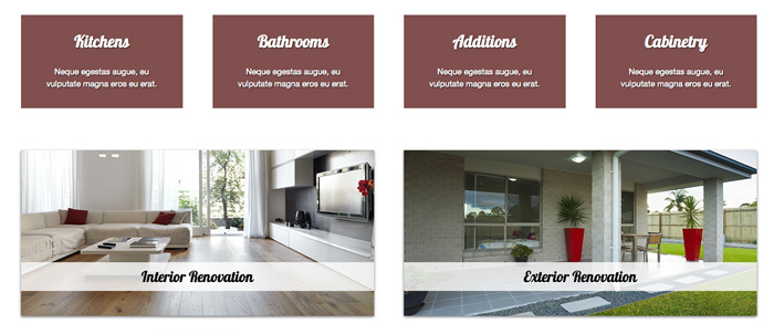 Remodeling WordPress Theme - Highlighted services