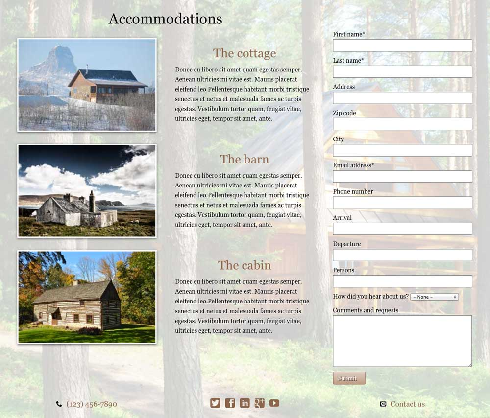 Horse Ranch WordPress Theme - Services overview