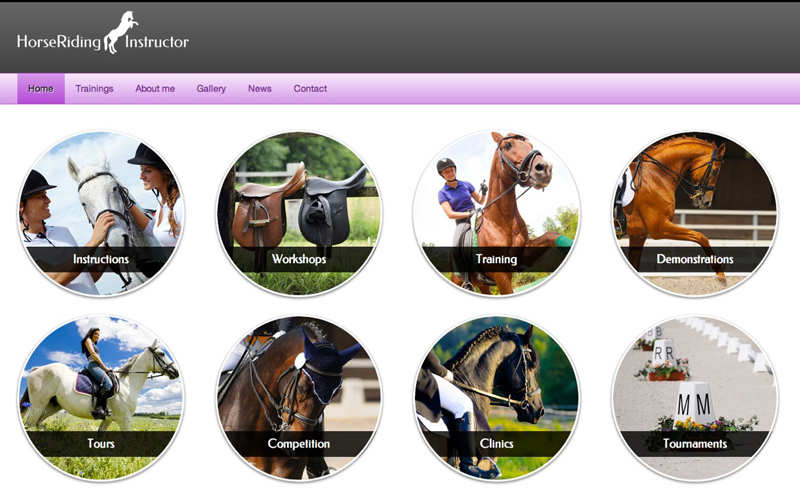 Horse Riding Instructor WordPress Theme - Overview of services
