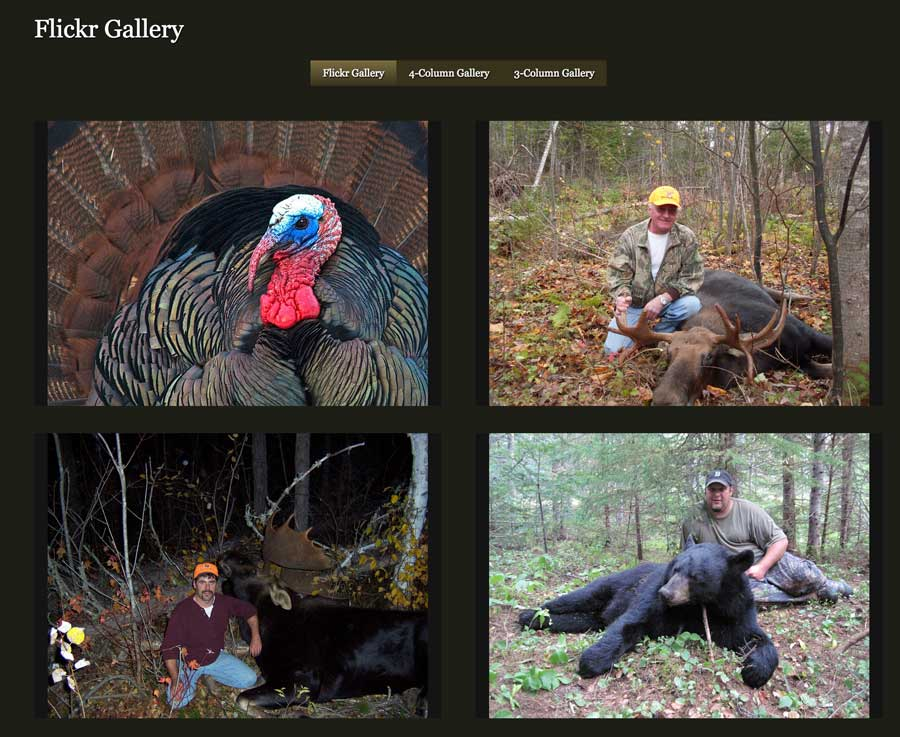 Hunting Outfitters WordPress Theme - Photo gallery