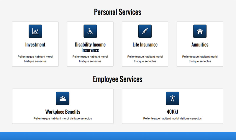 Insurance Company WordPress Theme - Services