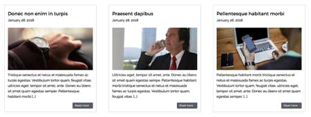 Investment Manager WordPress Theme - Latest news section