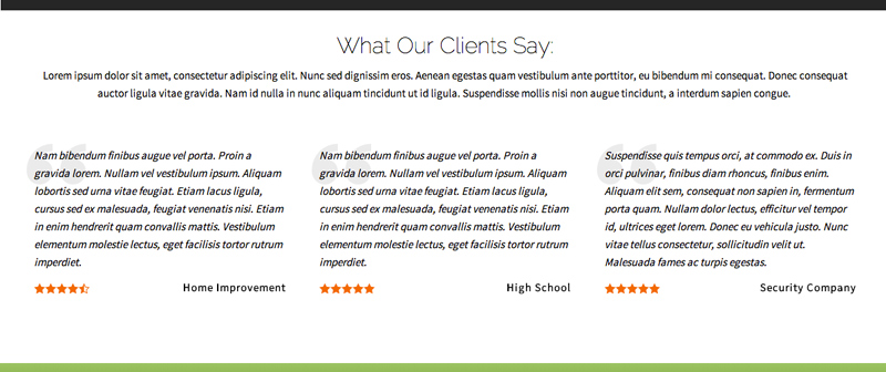 IT Company WordPress Theme - Share client reviews