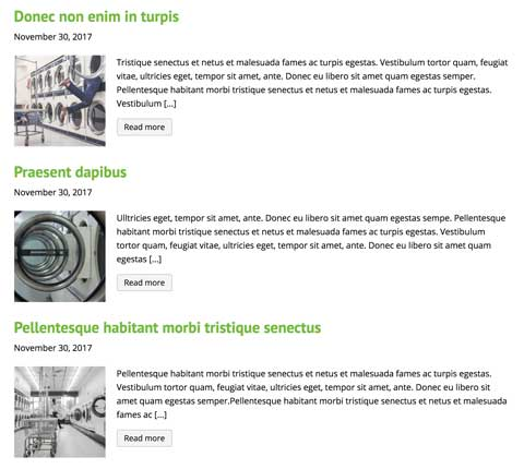 Wasserij WordPress Thema - Blog functionaliteit