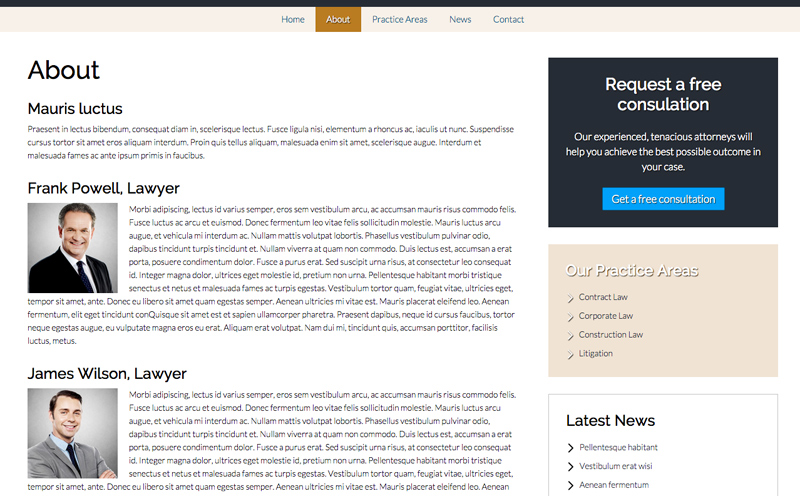 Lawyer WordPress Theme - Introduce your business